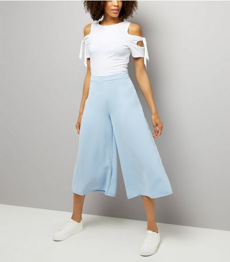 Pale Blue Culottes  | New Look