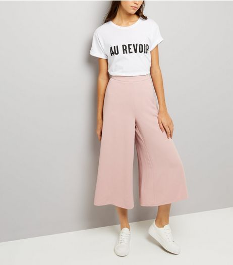 Mid Pink Flared Culottes  | New Look