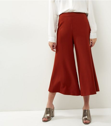 Tan Crepe Wide Leg Culottes | New Look