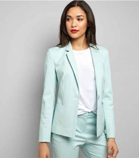 Mint Green Premium Suit Jacket | New Look