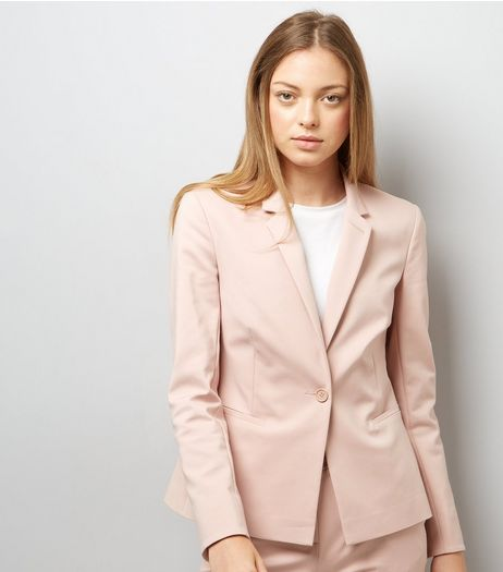Mid Pink Premium Suit Jacket  | New Look