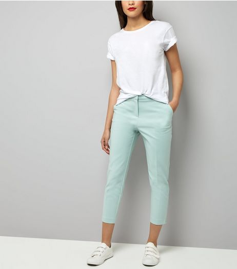 Mint Green Premium Suit Trousers | New Look