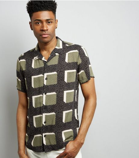 Black Watermelon Print Short Sleeve Shirt | New Look