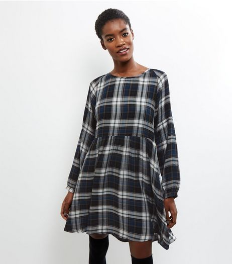 Apricot Blue Check Smock Dress | New Look