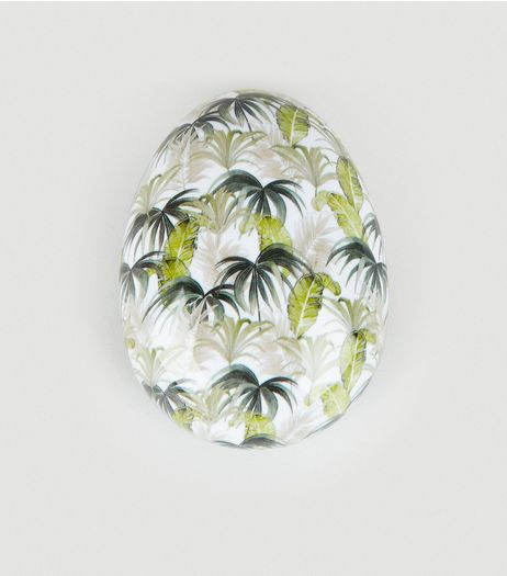 White Tropical Print Detangle Hairbrush | New Look