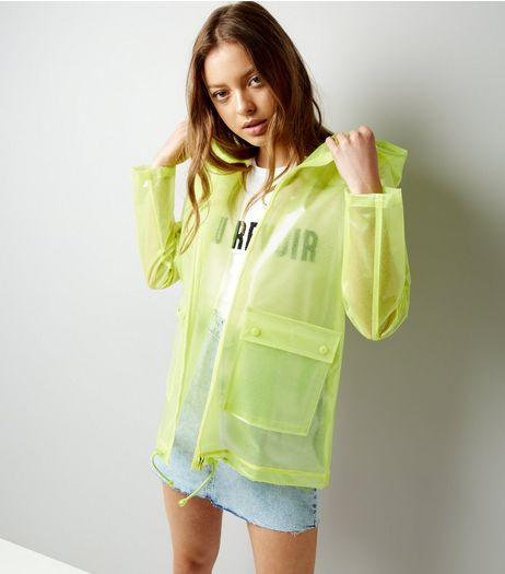 Yellow Glitter Anorak | New Look
