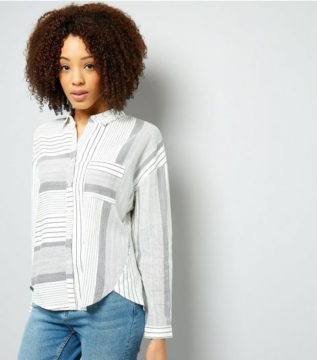 White Stripe Pocket Front Shirt | New Look