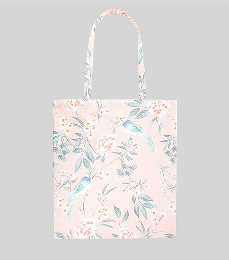 Pink Floral Print Canvas Bag  | New Look