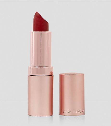 Crimson Red Matte Lipstick | New Look