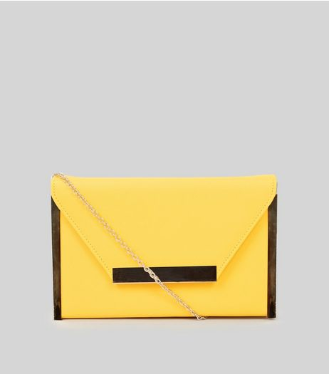 Yellow Metal Trim Clutch Trim | New Look