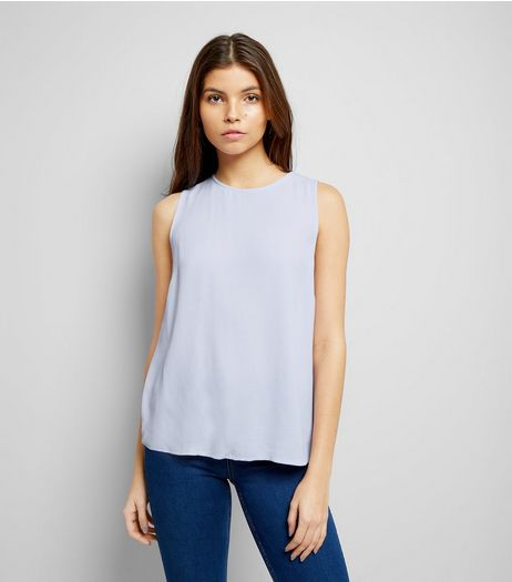 Lilac Tie Back Sleeveless Top | New Look