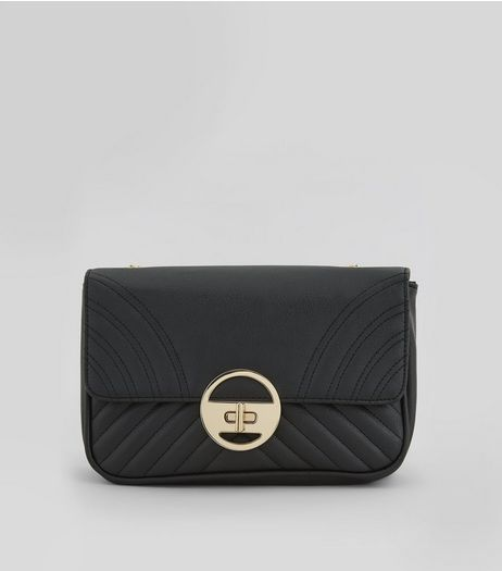 Black Quilted Shoulder Bag | New Look