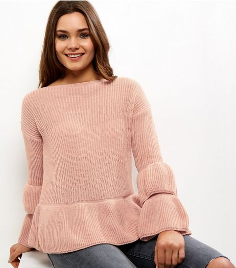 Cameo Rose Layered Frill Sleeve Jumper | New Look