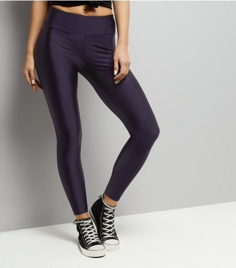 Navy High Waist Leggings  | New Look