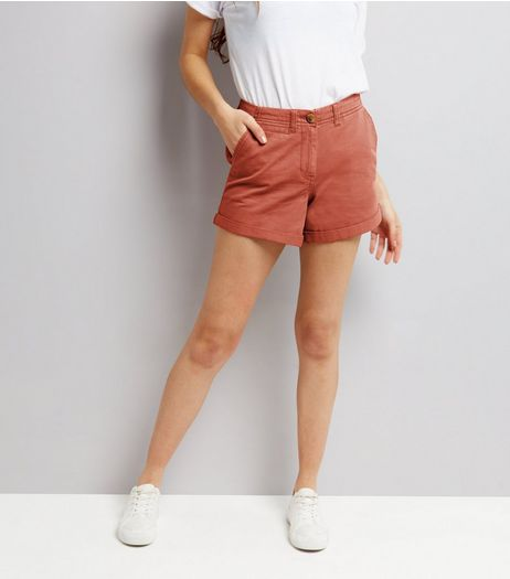 Light Brown Chino Shorts  | New Look