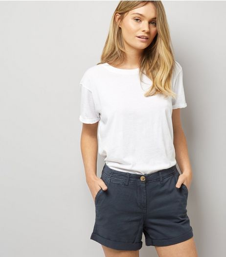 Navy Chino Shorts  | New Look