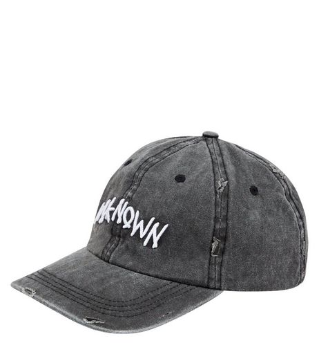 Grey Unknown Embroidered Cap | New Look