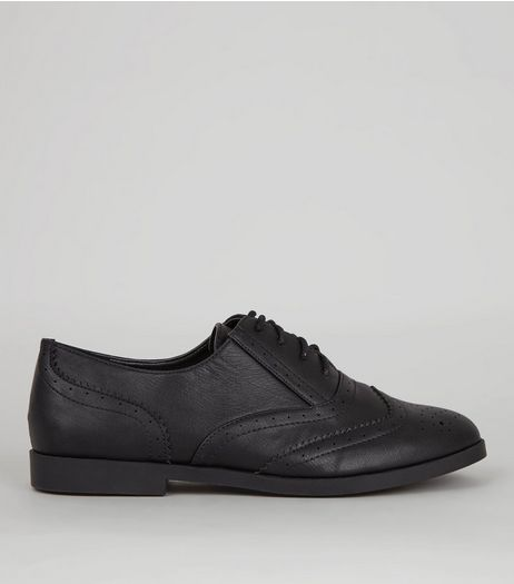 Black Lace Up Brogues | New Look
