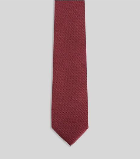 Red Skinny Tie | New Look