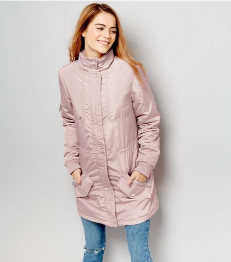 Anita And Green Mink High Shine Padded Parka | New Look