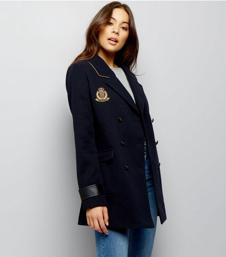 Anita and Green Black Military Badge Jacket  | New Look