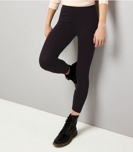Black High Waist Leggings | New Look