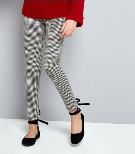 Teens Black Gingham Leggings | New Look