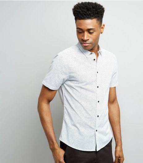 White Spot Print Short Sleeve Shirt | New Look