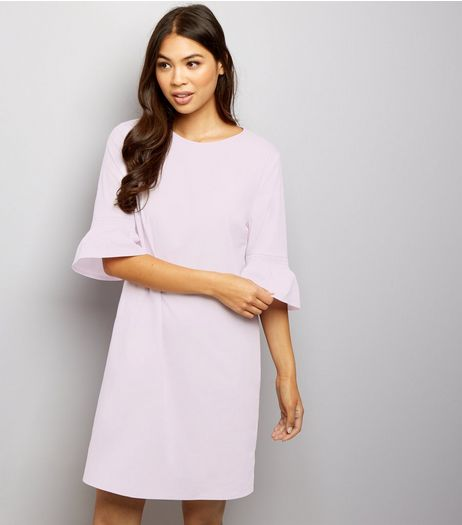 Lilac Bell Sleeve Tunic Dress  | New Look