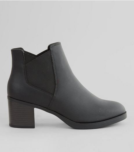 Teens Black Block Heel Chelsea Boots | New Look