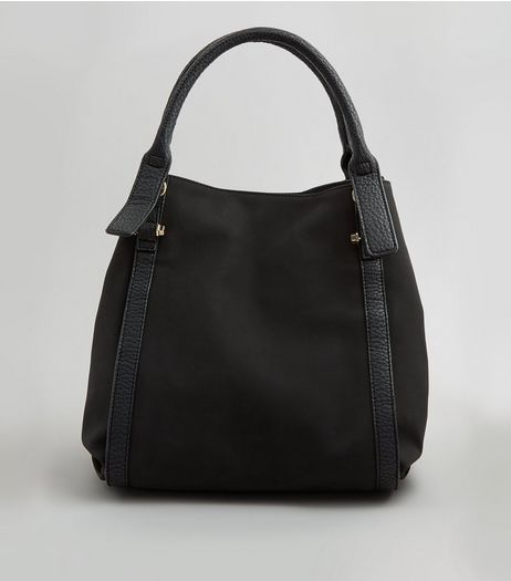 Black Slouchy Tote Bag | New Look