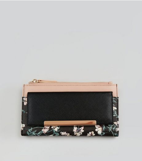 Pink Floral Print Purse | New Look