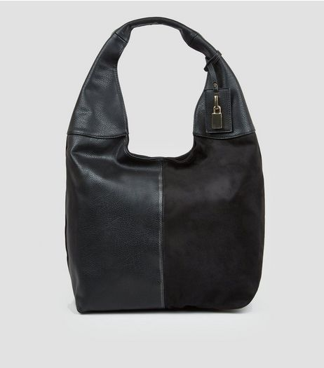 Black Oversized Hobo Bag | New Look