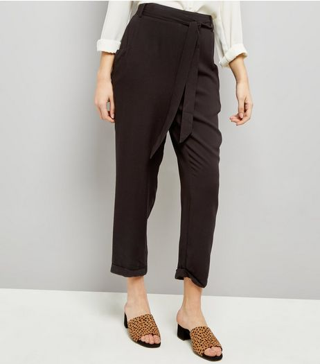 Black Tie Waist Joggers  | New Look