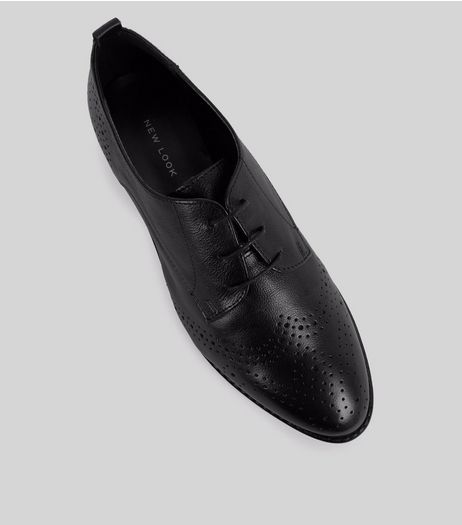 Black Leather Brogues | New Look