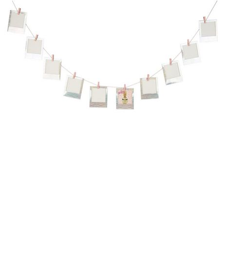 Multicoloured Picture Frame Holographic Bunting  | New Look