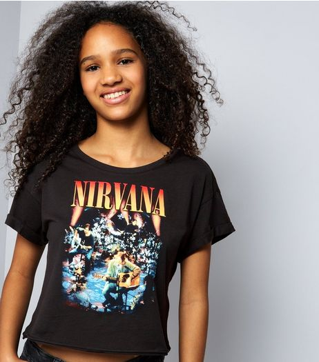 Teens Black Nirvana Print T-Shirt | New Look