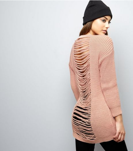 Cameo Rose Pink Ladder Back Jumper | New Look