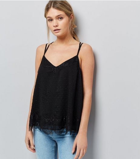 Black Lace Cami Top | New Look
