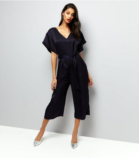 Mela Black Cropped Jumpsuit  | New Look
