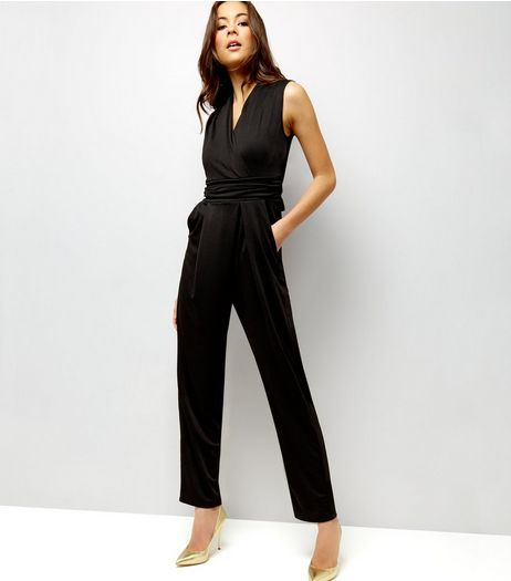 Mela Black Lace Back Sleeveless Jumpsuit  | New Look