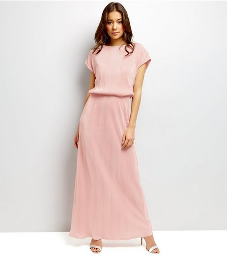 Mela Pink Short Sleeve Belted Maxi Dress | New Look