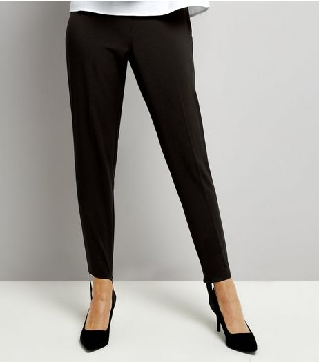 Black Stirrup Trousers  | New Look