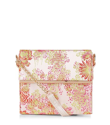 Pink Floral Jaquard Box Bag | New Look