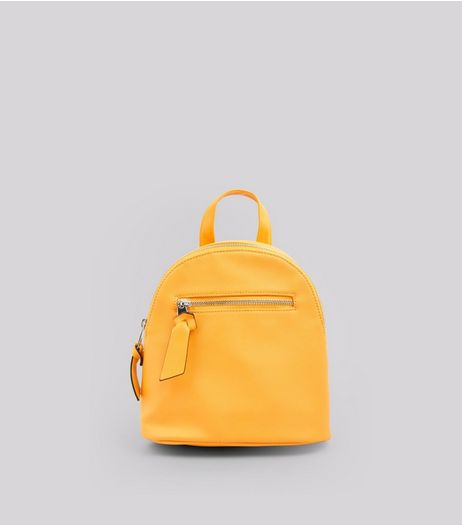 Yellow Curved Top Mini Backpack | New Look