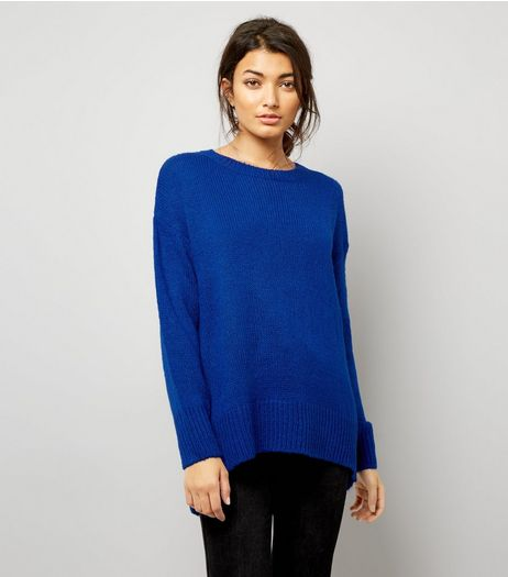 Blue Longline Jumper | New Look