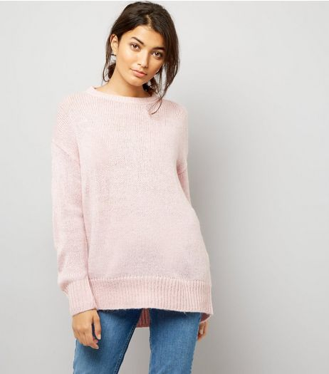 Pink Longline Jumper | New Look