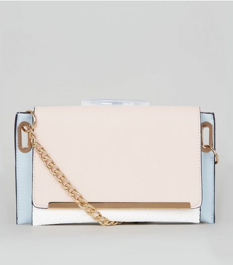 White Snakeskin Texture Cross Body Bag | New Look