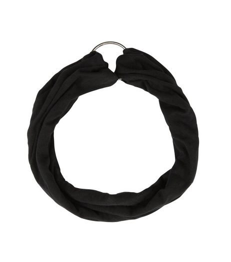 Black Ring Front Headband | New Look