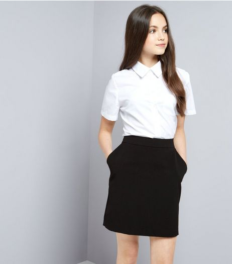 Teens Black Bodycon Skirt | New Look